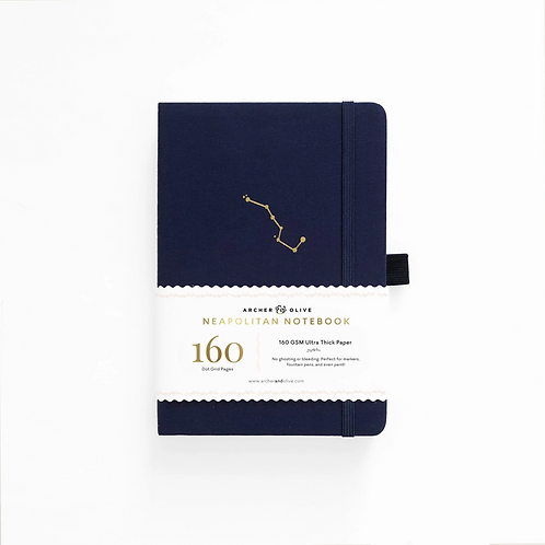 Archer & Olive A5 Neapolitan Dot Grid Notebook - Night Sky