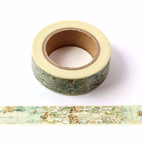 Vintage Nautical Map Washi Tape