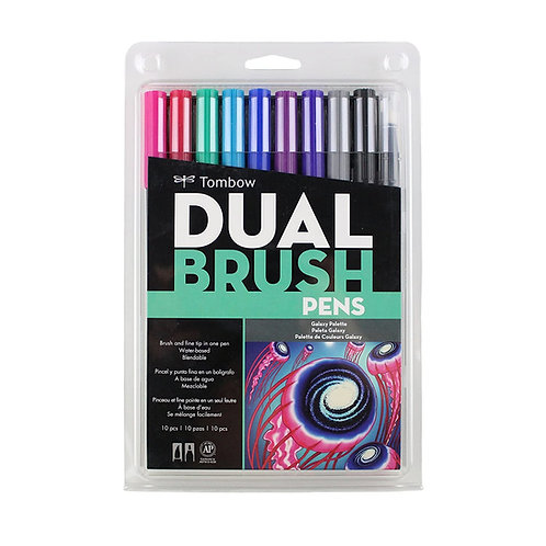 Tombow Dual Brush Pen AB-T - Galaxy Set of 10
