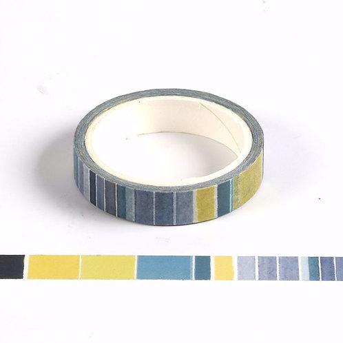 Watercolour Blue Lines Washi Tape (Slim)
