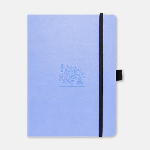Dingbats* Earth A5+ Dot Grid Notebook - Sky Blue Great Barrier Reef
