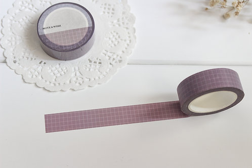 Vintage Rose Grid Washi Tape