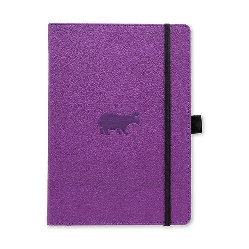 Dingbats* Wildlife A5+ Dot Grid Notebook - Purple Hippo