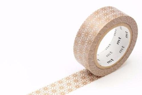 MT Morning Field Asanoha Sinchu (Brass) Washi Tape