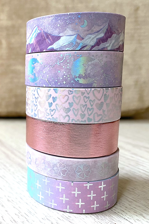 Enchanted Holographic Washi Tape Pack of 6