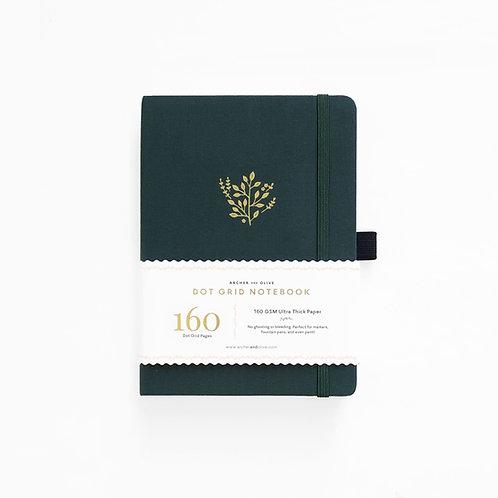 Archer & Olive B5 Dot Grid Notebook - Deep Green