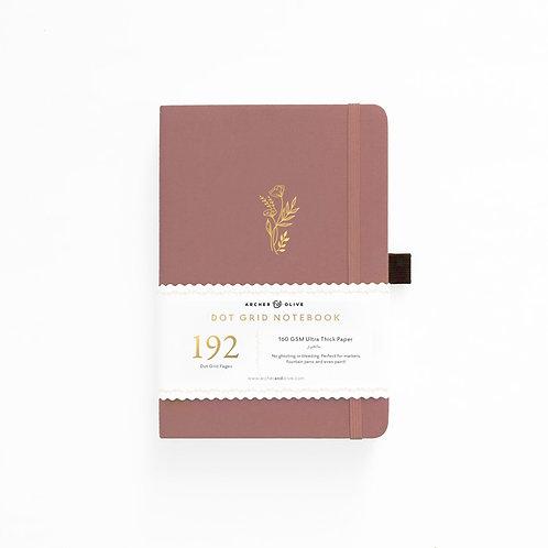 Archer & Olive A5 Dot Grid Notebook - Floral Sunset 192 PAGES