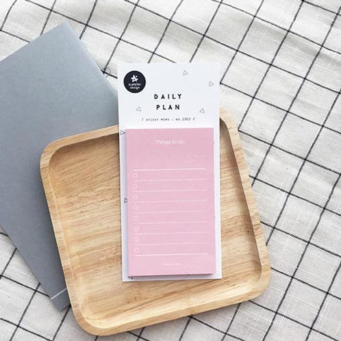 Suatelier Sticky Memo No.1902 - Things To Do Pastel Pink