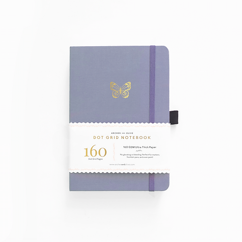 Archer & Olive A5 Dot Grid Notebook - Butterfly Wings
