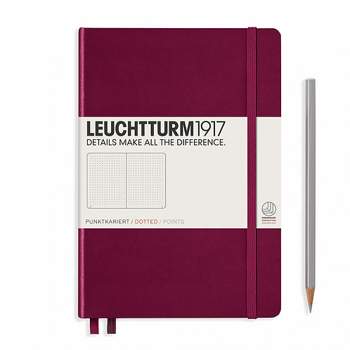 Leuchtturm1917 A5 Dot Grid Notebook - Port Red