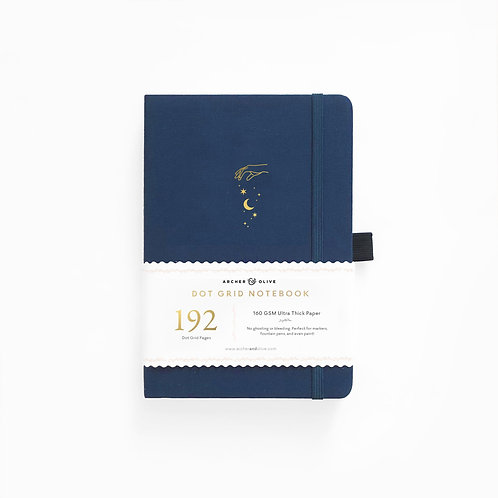 Archer & Olive A5 Dot Grid Notebook - Stardust 192 PAGES