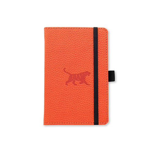 Dingbats* Wildlife A6 Pocket Dot Grid Notebook - Orange Tiger