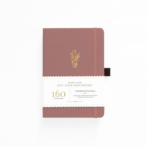 Archer & Olive A5 Dot Grid Notebook - Floral Sunset
