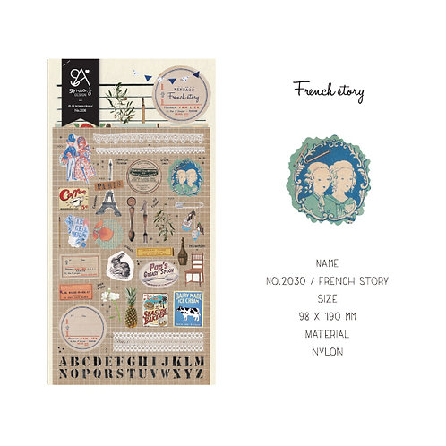 French Story Stickers - Sonia J Design No.2030