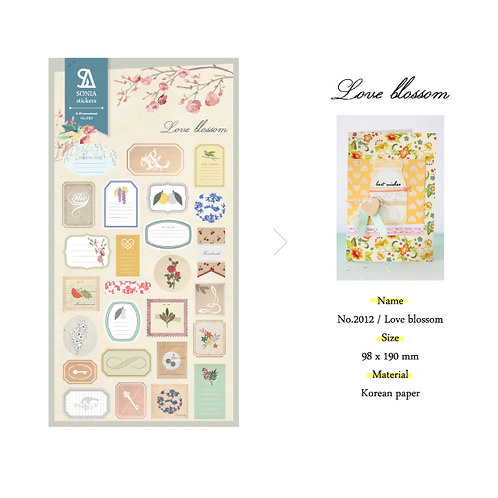 Love Blossom Stickers - Sonia J Design No.2012