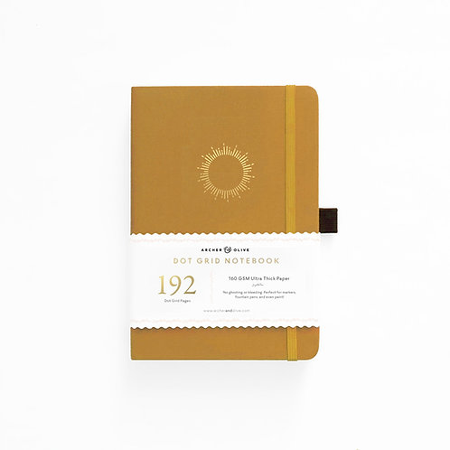 Archer & Olive A5 Dot Grid Notebook - Morning Sun 192 PAGES