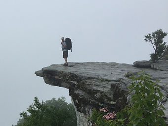 McAfee Knob on the Appalachian Trail. The pic on the left was the heaviest I'd ever been, which made climbing to the top of this mountain unbearable and excruciating. The pic on the right is me a year later, 40 lbs. lighter, and 5 waist sizes smaller. Backpacking is way easier now...and a lot more fun!