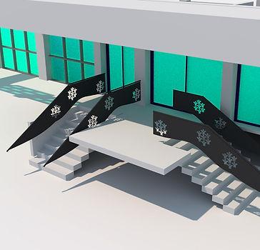 vue 3D projet main courante accessibilité