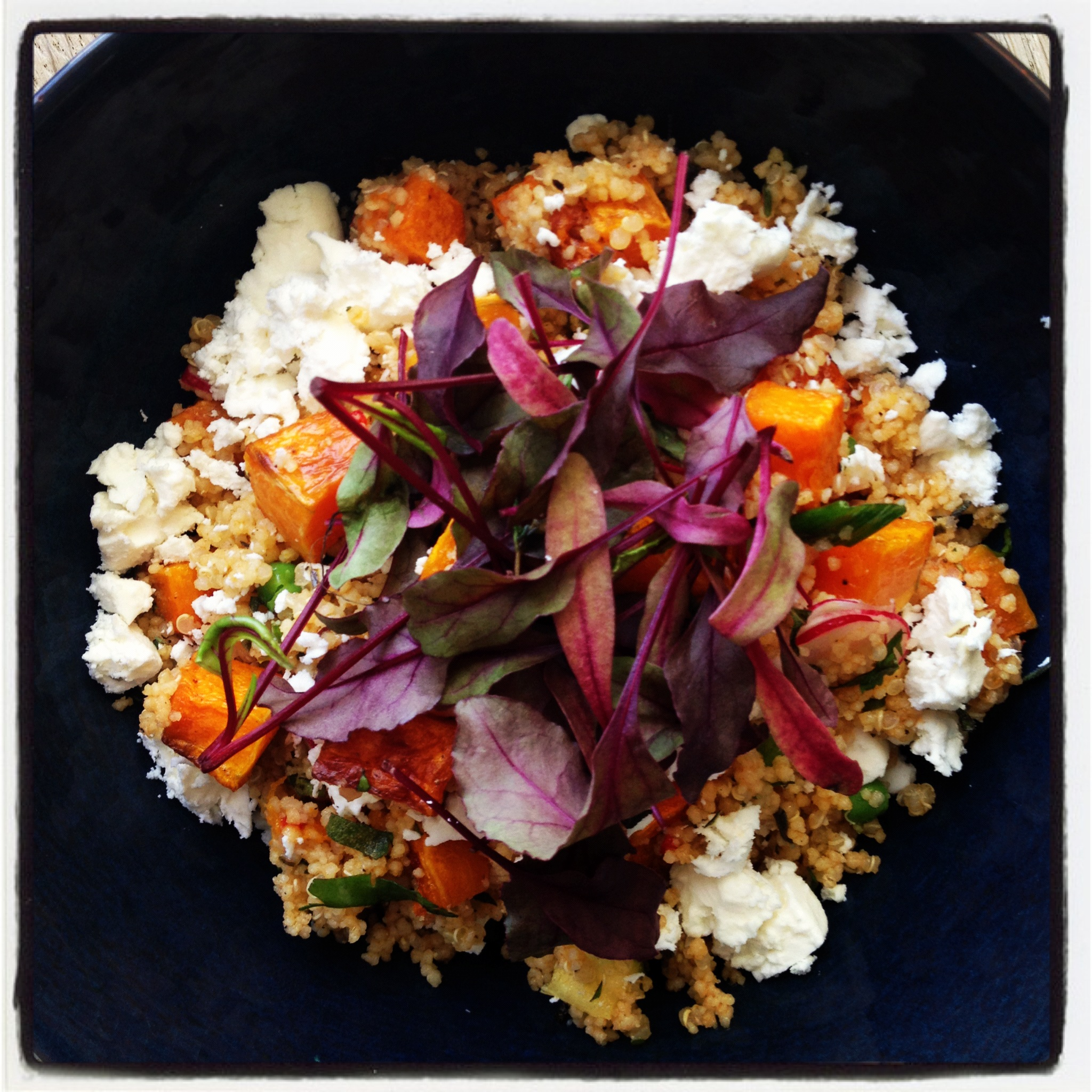 Warm Autumnal quinoa salad