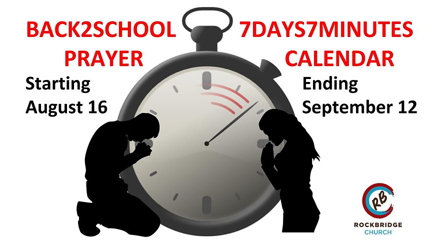 B2School 7Days7Minutes Prayer Event Slid