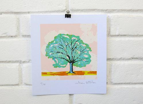 """Serigrafia """"Árvore do Dia"""" - 6"""