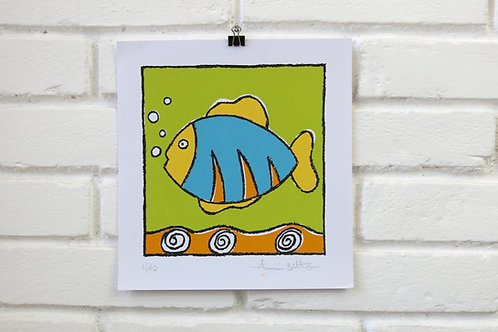 Serigrafia Peixe Verde