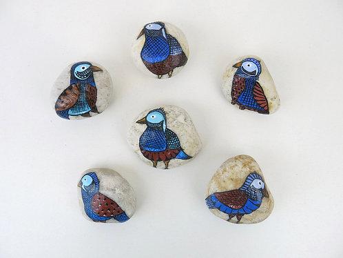 Pedras pintadas - Pássaros da Mantiqueira
