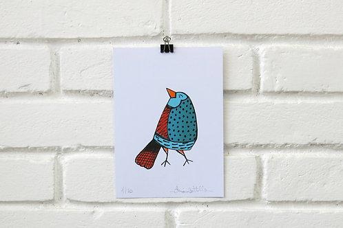 Serigrafia Pássaro da Mantiqueira Verde
