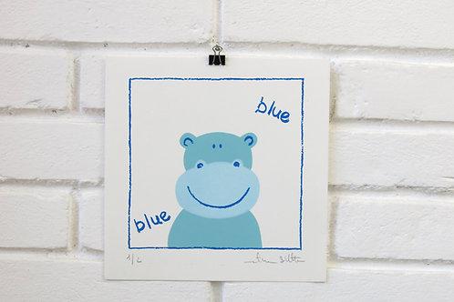 Serigrafia Hipo contorno azul