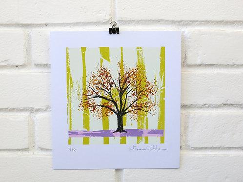 """Serigrafia """"Árvore do Dia"""" - 7"""