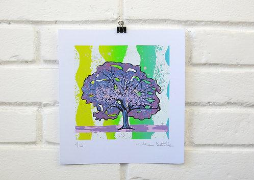 """Serigrafia """"Árvore do Dia"""" - 3"""
