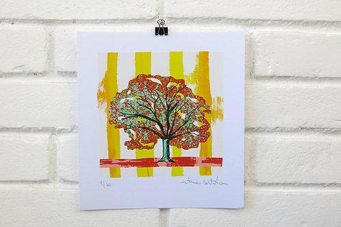 """Serigrafia """"Árvore do Dia"""" - 4"""