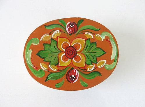 Caixinha Oval Pintada - Tradição