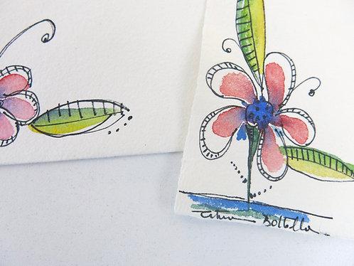 Cartão Aquarela - Modelo 3