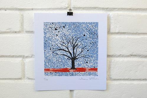 """Serigrafia """"Árvore do Dia"""" - 10"""