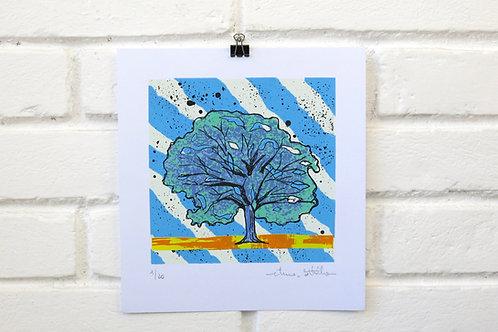 """Serigrafia """"Árvore do Dia"""" - 8"""