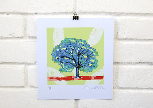 """Serigrafia """"Árvore do Dia"""" - 9"""