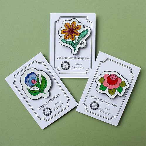 Kit com 3 Pins - Coleção Primavera