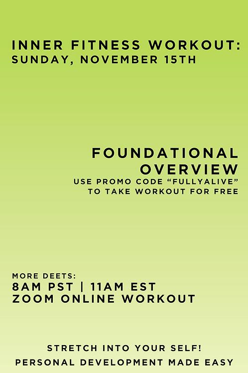 November 15th Inner Fitness Workout
