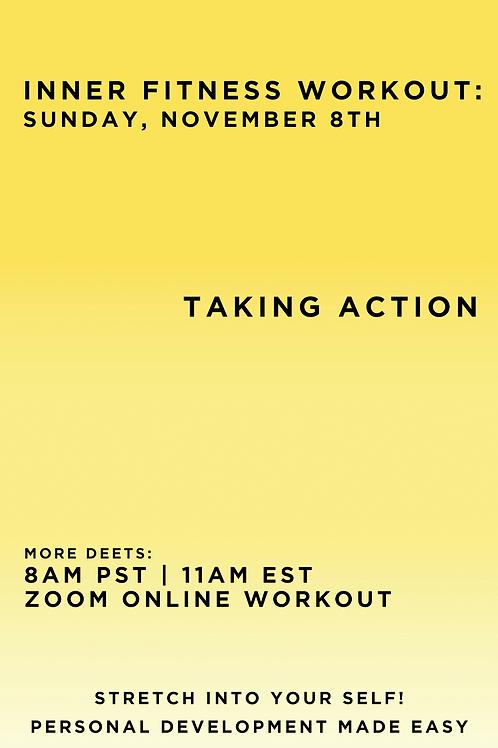 November 8th Inner Fitness Workout