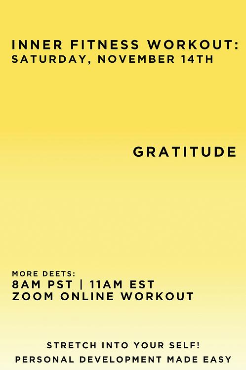 November 14th Inner Fitness Workout