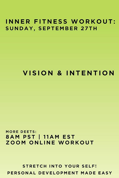 September 27th Inner Fitness Workout