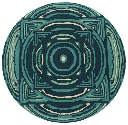 Round Peacock Mandala