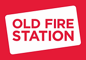 Logo of red rectangle enclosing white rectangle. Red text reads Old Fire Station