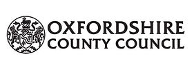 Logo of Black writing on white background reads Oxfordshire County Council