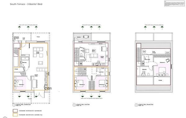 PROPOSED PLANS SOUTH TERRACE 3 AND 1 BED