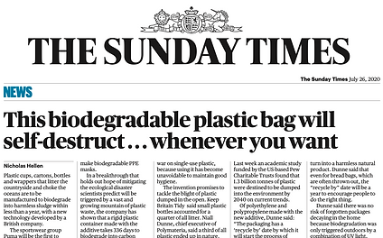 The Sunday Times POLYMATERIA JULY 26TH 2
