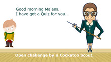 Good morning, Ma'am. I have got a quiz for you.