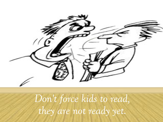 Don't force kids to read to learn. They aren't ready yet.