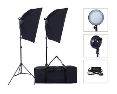 Kit de iluminación softbox LED